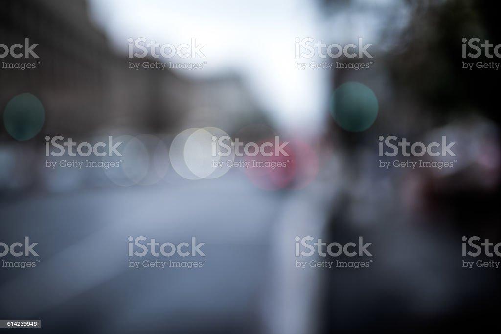 Blurred city, bokah stock photo