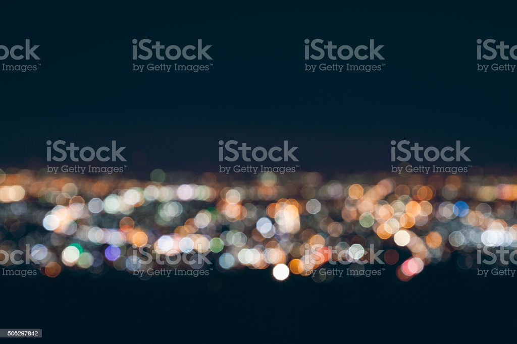 blurred city light stock photo
