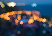 Blurred city lights bokeh, Background