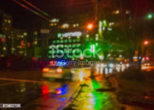 istock Blurred city lights 870802706