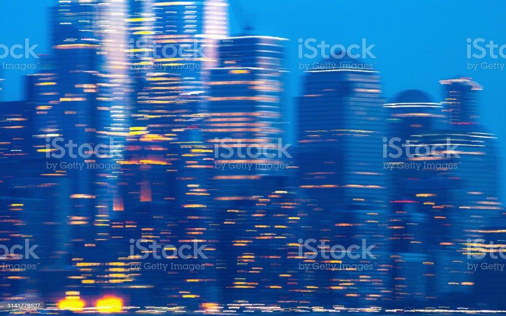 Blurred city - Manhattan, New York stock photo