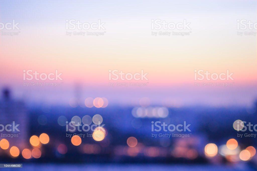 도시 일출 배경 흐리게 - 로열티 프리 0명 스톡 사진