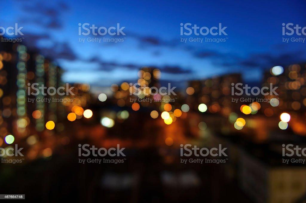 Verschwommene Stadt – Foto
