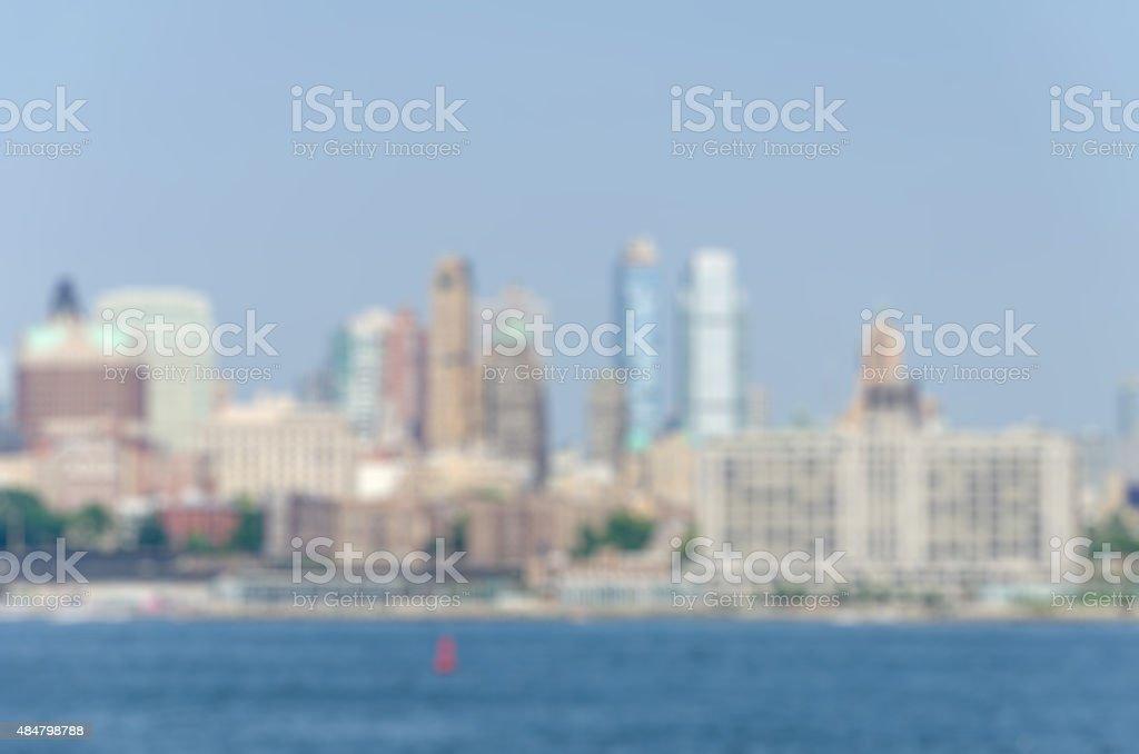 Desfocado vista da cidade à luz do dia - foto de acervo