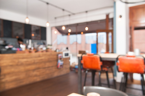 istock Blurred coffee shop interior 545370062