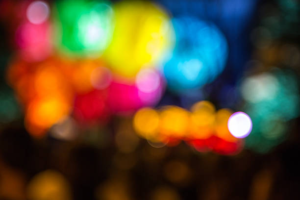 Blurred color lights stock photo