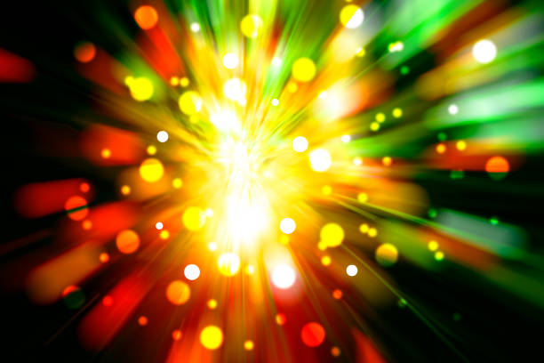 blurred colored light background stock photo