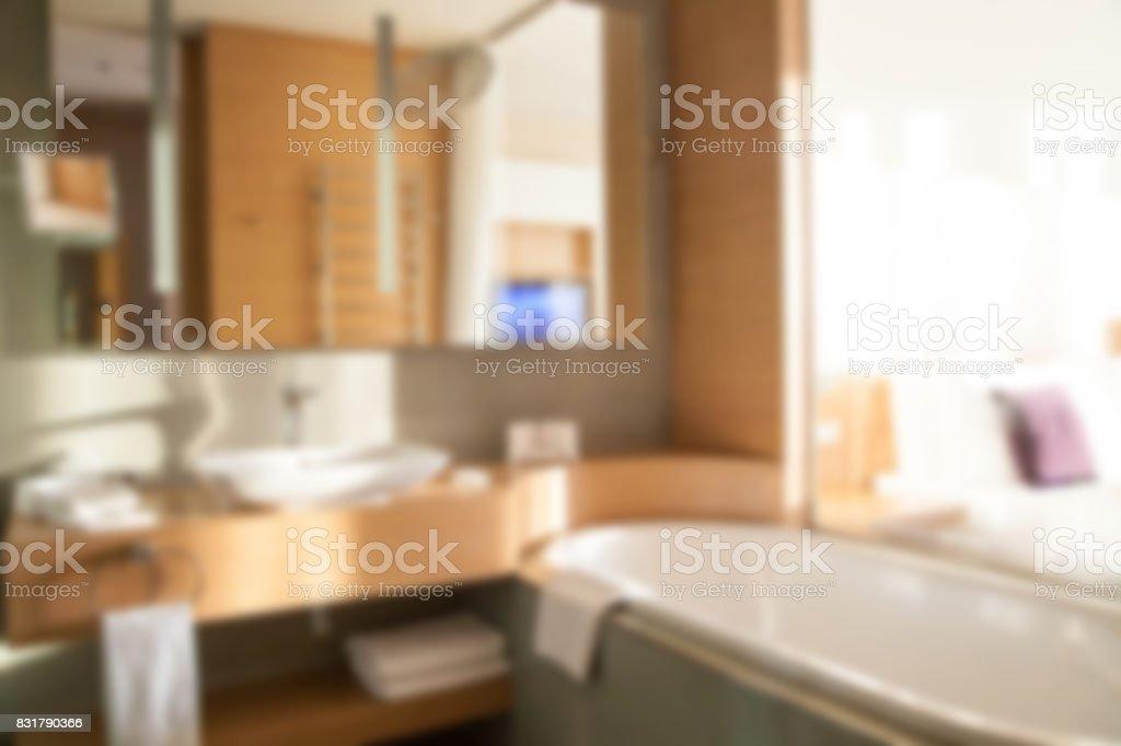 模糊當代浴室配有玻璃牆的房間圖像檔