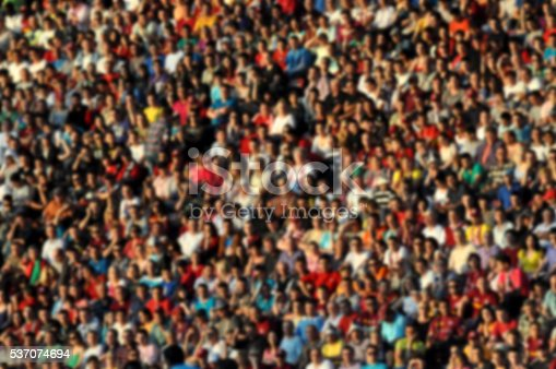 istock Blurred crowd of spectators in a stadium 537074694