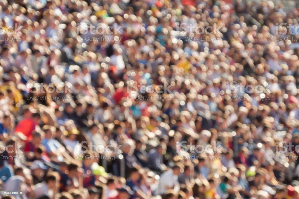 Blurred crowd stock photo