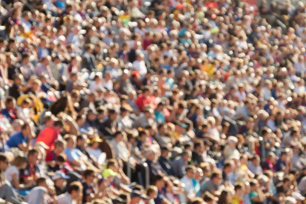 blurred crowd - sports event stock photos and pictures