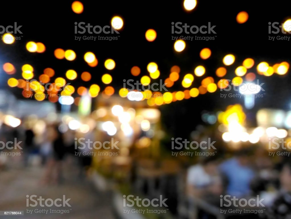 Blurred customers dining at restaurant stock photo
