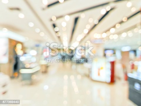 istock Blurred decorative and colorful shopping mall 877369440