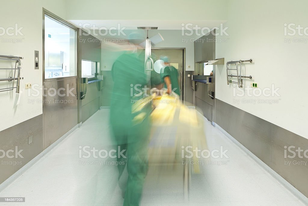blurred emergency in hospital royalty-free stock photo