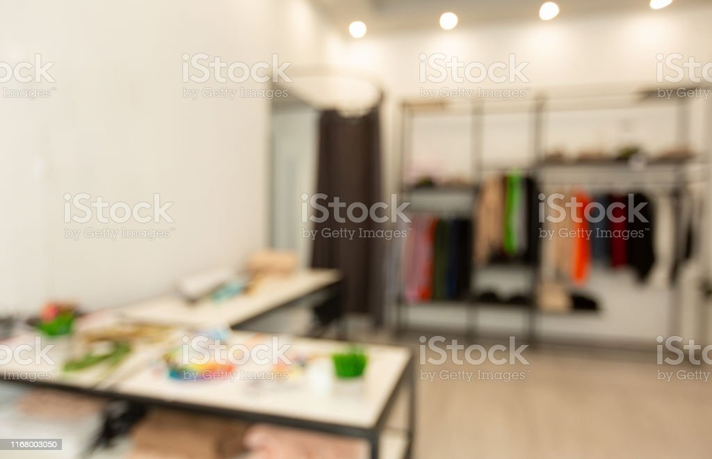 Blurred Fashion Designer Workshop Studio Background With Copy Space Stock Photo Download Image Now Istock