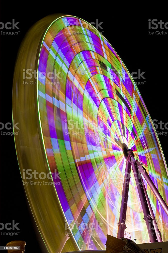 Blurred Ferris Wheel royalty-free stock photo