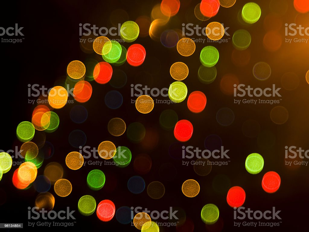 Blurred festive colorful lights royalty-free stock photo