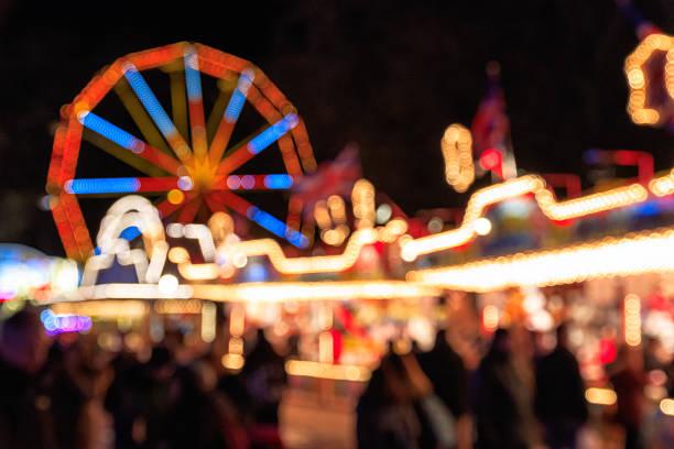 Blurred Festive Lights of Winter Wonderland – Foto