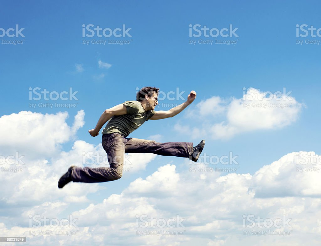 Blurred flying stock photo