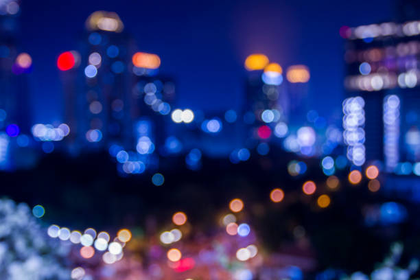 blurred focus of cityscape. stock photo