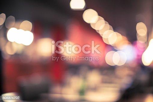 Blurred food court background
