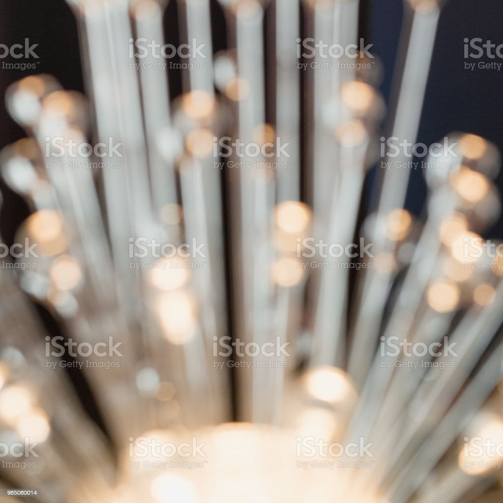 Blurred garland. City night blur bokeh, defocused abstract background. Squre image. royalty-free stock photo