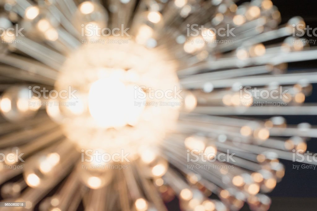 Blurred garland. City night blur bokeh, defocused abstract background. royalty-free stock photo