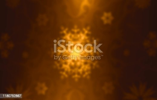 929640504istockphoto Blurred Gold decorative christmas background with snowflakes. 1180752867