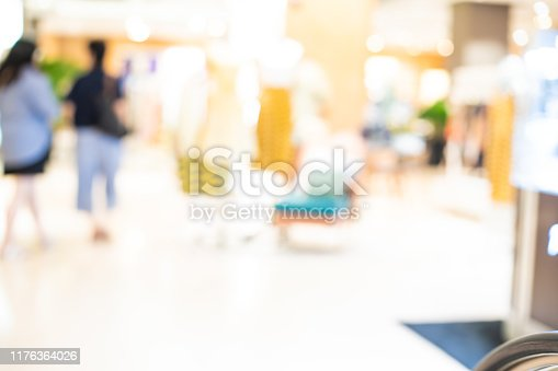1072974214 istock photo Blurred group of people shopping in supermarket, Moderntrade 1176364026