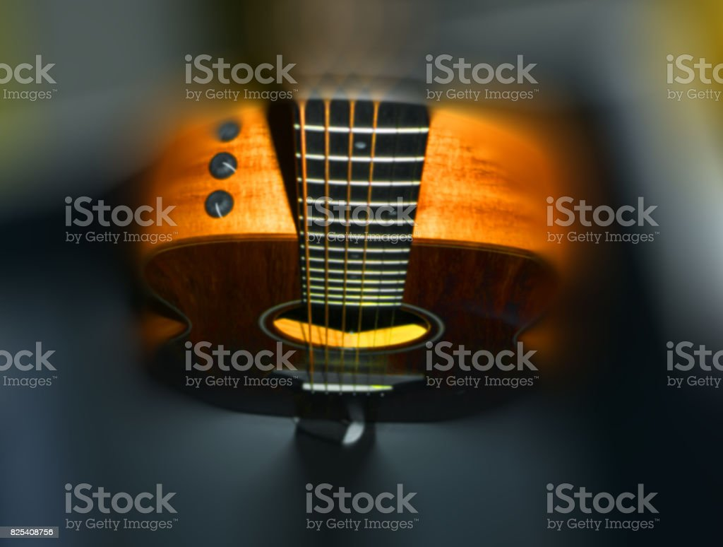 Blurred Guitar stock photo