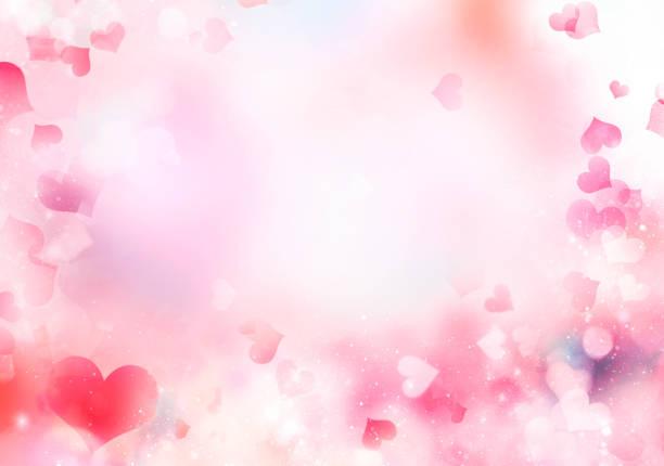 herz rosa valentinstag hintergrund unscharf. - valentinstag stock-fotos und bilder