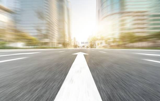 blurred high way in Shenzhen stock photo