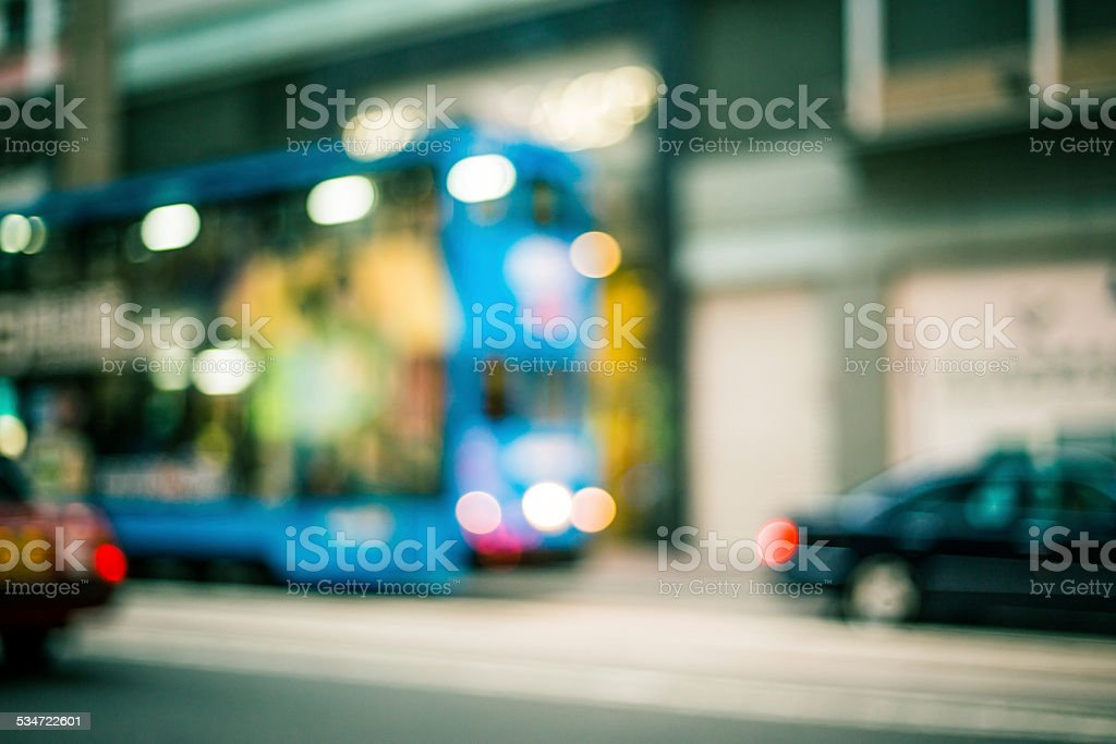 Blurred Hong Kong Street stock photo