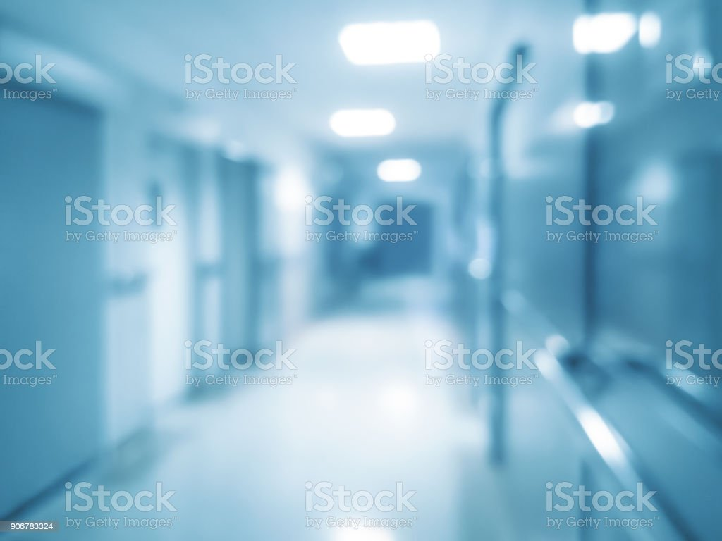 Blurred hospital corridor royalty-free stock photo