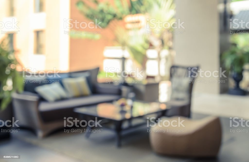 Blurred image background of outdoor reception – Foto