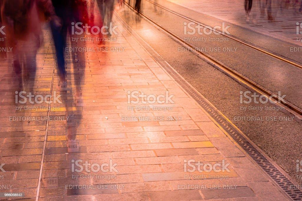 Wazig beeld van de man mensen wandelen - Royalty-free Aan het werk Stockfoto