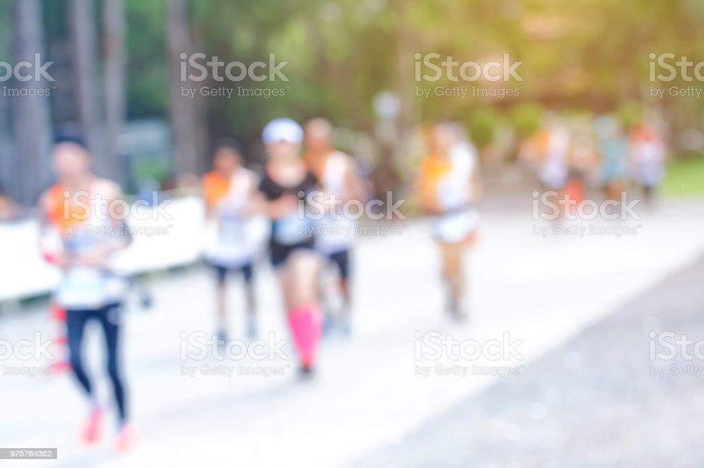 Verschwommenes Bild der Marathon-Rennen mit lans flare.blurry - Lizenzfrei Abstrakt Stock-Foto