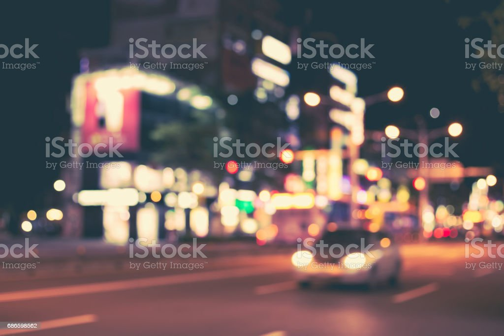 Blurred image of night city. royalty-free stock photo