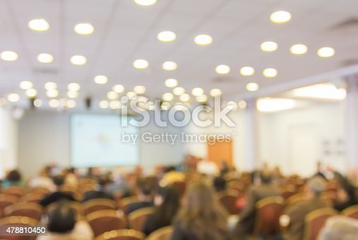 istock Blurred image of people in auditorium , blur background 478810450