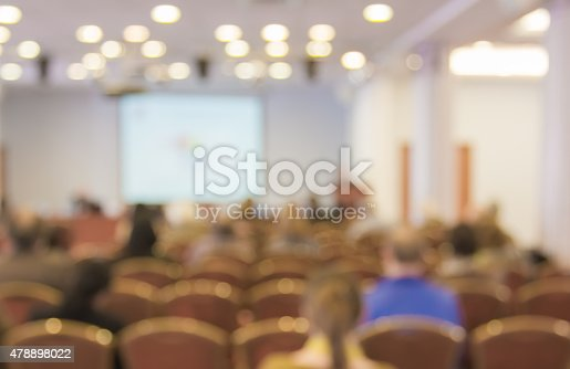 478810450 istock photo Blurred image of people in auditorium , blur background 478898022
