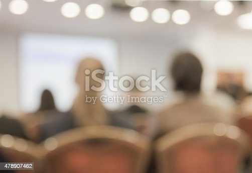 478810450 istock photo Blurred image of people in auditorium , blur with bokeh 478907462