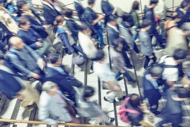 ぼやけた人々のイメージ - 通勤 ストックフォトと画像