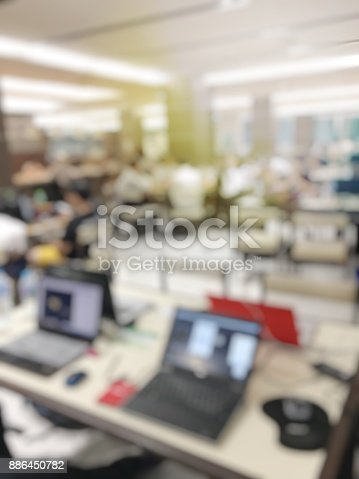 647200468 istock photo blurred image of teamwork people concept.Young team of coworkers making great business discussion in modern coworking office and talking with partners while showing new startup idea monitor 886450782