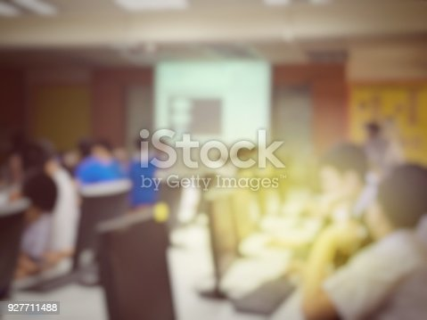 814301186 istock photo blurred image of the student learning technology and workshop using computer together in computer room in secondary, university for study, Network communication, education or training concept. 927711488
