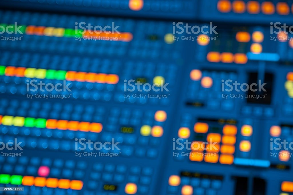 Blurred image of video recording switcher stock photo