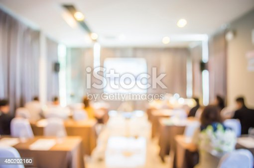 istock blurred in seminar room 480202160