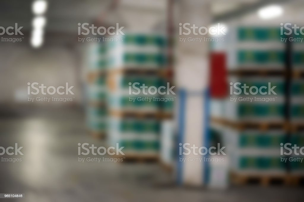 Blurred interior of storage at winery royalty-free stock photo