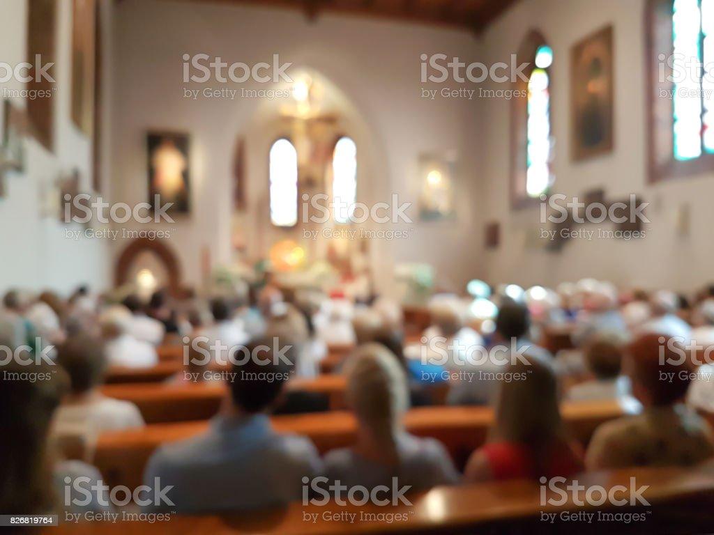 Trouble intérieur de l'église - Photo