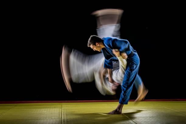 Verschwommene Judo-Wurf – Foto
