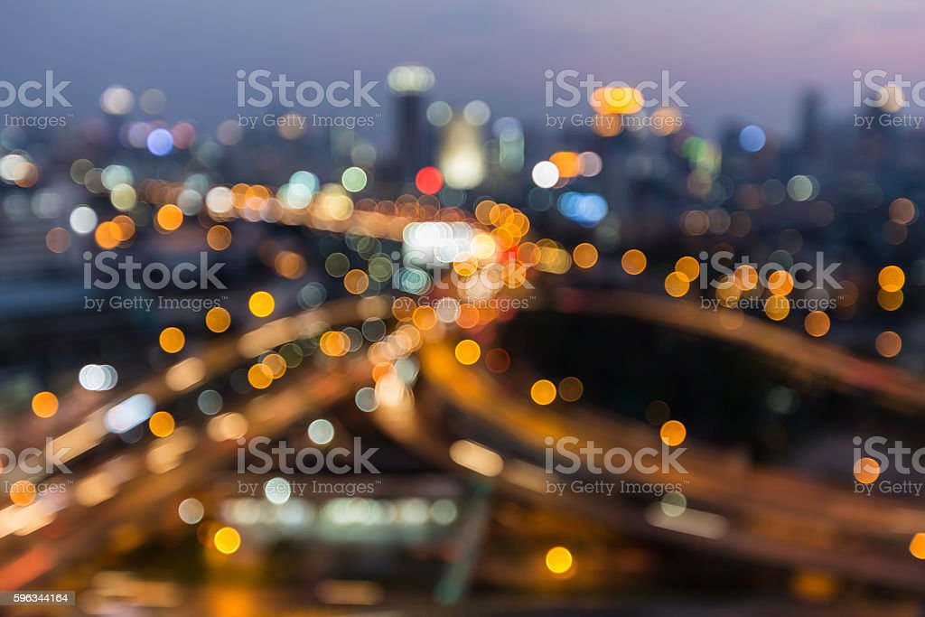 Blurred lights highway interchanged night view royalty-free stock photo